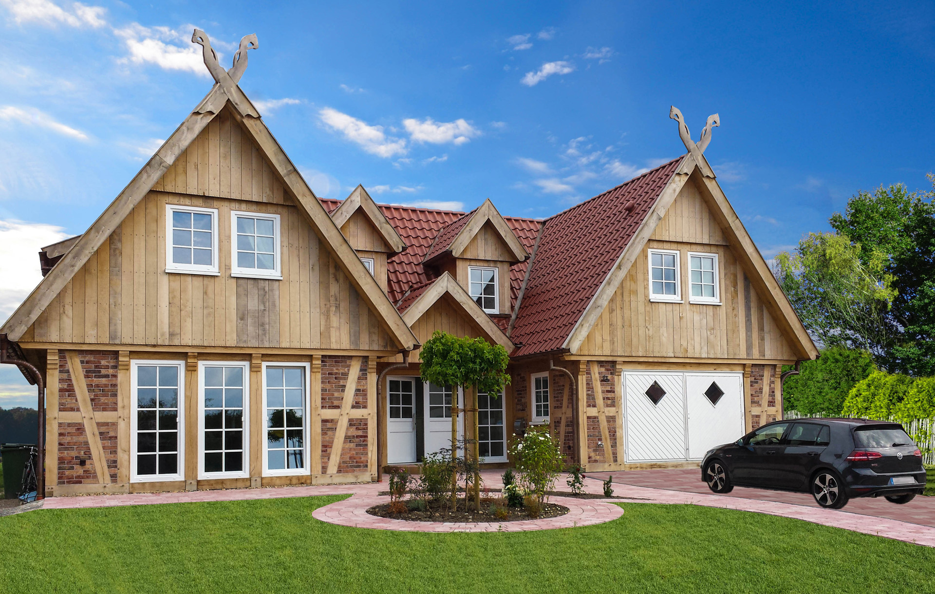 Zusätzliche Gestaltungsmöglichkeiten: Fachwerk Einfamilienhaus